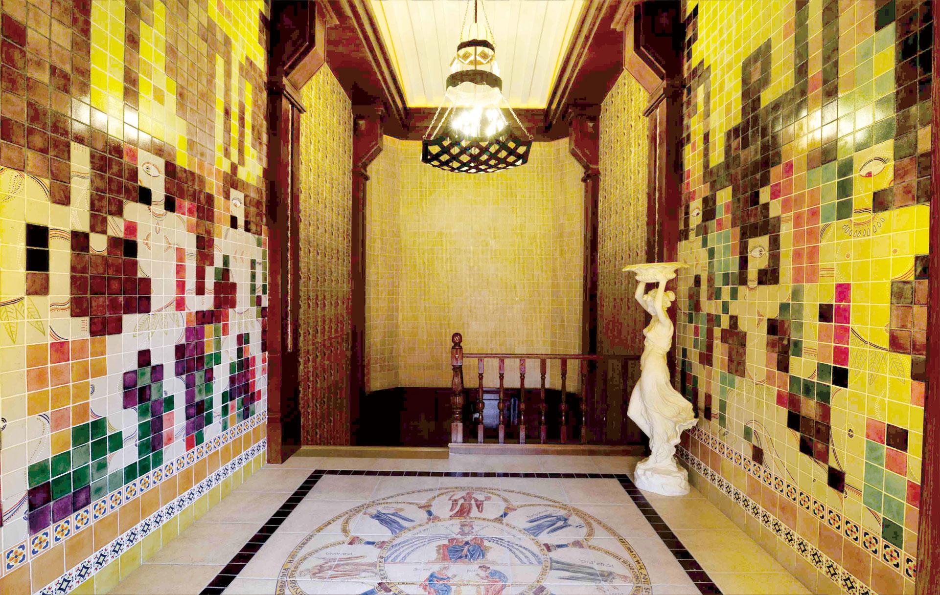 成都洛带古镇《哲学故事酒馆》定制瓷砖艺术画