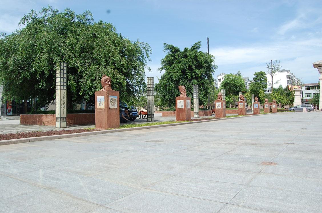 阆中古城三国文化广场